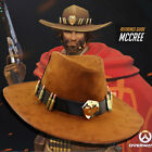 Overwatch McCree Badge Bullet  Knight  Cowboy Hat Cool Cap Cosplay Props Gift