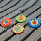 Wood Spinning Top Kids Colorful Wooden Gyro Toy Intelligence Classic Toy OYW