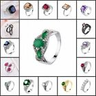 New Fashion Style Crystal Rings for Women Jewelry Wedding Ring Size 6-9