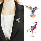 Elegant Ladies Retro Alloy Flyer Birds Red-crowned Crane Brooch Pin Jewelry Gift
