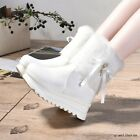 Women's Platform Creepers Fur High Top Ankle Boots Winter Warm Fashion Zip Shoes