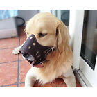 New Genuine Leather Adjustable Mesh Soft Cozy Cage Muzzle for Dog 5 Size