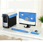 Set of 4 Computer Screen Display Dirt Cover & Keyboard Protector & Mouse Mat
