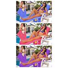 Vinsani Loungermate Beach Towel Holiday Sun Lounger with 4 Pockets & Zip Closure