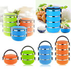 4 Layer Metal Insulated Bento Food Storage Container Lunch Box Camping Bpa Free