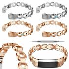 Vogue Crystal Stainless Steel Strap Wrist Watch Band Brecelets For Fitbit Alta