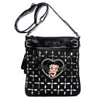 Betty Boop bling cross-body bag messenger shoulder Rhinestone dual layer pouch $33.98 USD