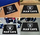Oakland Raiders Man Cave Area Rug Choose 4 Sizes