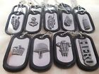"""Choice of Decorative Military/Army Twin Dog Tag Necklace: 29"""" Ball Chain SSteel"""