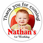 Внешний вид - 40 First 1st BIRTHDAY PARTY FAVORS STICKERS FOR YOUR FAVORS ~YOUR PERSONAL PHOTO