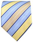 Blue and Yellow Striped Men's Tie