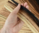 Dreadlock Extensions HUMAN HAIR x50, 40cm long Pencil Thin PLUS free Dread Band