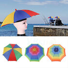 Outdoor Foldable Headwear Umbrella Hat Sun Hat Golf Fishing Festival Camping