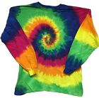 Smooth Rainbow Long Sleeve Tye Dye t shirt NEW DESIGN