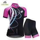 Fashion Women's Cycling Kits Ladies Bike Cycling Jerseys & Coolmax Shorts Sets
