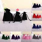5/20/50 Velvet Bags Jewelry Wedding Party Favor Gift Drawstring Pouches