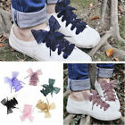 Fashion Women Ladies Satin Ribbon Shoelaces Flat Silk Sport Shoes Lace 2017 New