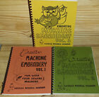 Creative Machine Embroidery Volumes 1, 2, 3 by Lucille Merrell Graham