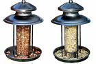 DELUXE STEEL LANTERN SHAPED WILD BIRDS SEED OR NUT FEEDER/BIRD FEEDING STATION