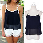 Fashion Women Lace Summer Vest Top Sleeveless Shirt Blouse Casual Tank TopsBBUS