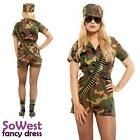 Women Ladies Army Soldier Girl Cosplay Costume Captain Commando Combat Outfit