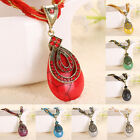 New Women's Bohemia Jewelry Alloy Briolette Water-drop Pendant Necklace
