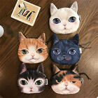 3D Cute Wallet Bag Animal Face Zipper Mini Cat Coin Purses Dog Purse Plush