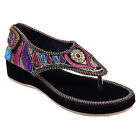Women Embroidery Work Multi Color Fashionable Sandals FSB194