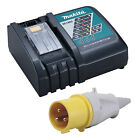 MAKITA 18V LXT DC18RC RAPID 110V SITE CHARGER YELLOW PLUG