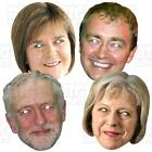 THERESA MAY CORBYN  FARRON STURGEON FARAGE BIG A3 Face Mask + Life-size ELECTION