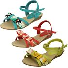 Girls Spot On Casual Summer Bow Front Sandals