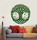 Vinyl Wall Decal Celtic Symbol Tree of Life Nature Butterflies Stickers (1349ig)