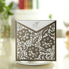 Flower Personalized Laser Cut Wedding Invitation Cards Free Envelopes & Seals