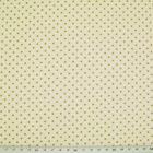 100% Cotton Fabric - 3mm SPOT - GREEN ON IVORY   - Rose & Hubble - Cut from Roll