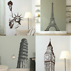 Famous Landmark Wall Stickers! Transfer Graphic Decal Decor Stencil Interior Art