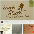 Nursery Quote Wall Sticker! Home Transfer Graphic Kids Decal Decor Stencil Art