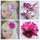 NEW TROPICAL ORCHID FLOWER HAIR CLIP CORSAGE BROOCH 50s HOLIDAY VINTAGE WEDDING