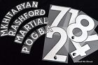 Manchester United 2017/18 Football Shirt Name/Number Set Player size issue