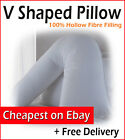 Pack of 2, 4 or 8 Orthopaedic V shaped Neck Back Support Bed Pillows