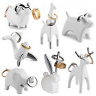 Umbra Anigram White & Chrome Ring Holder Animal Jewelry Wedding Engagement Gift
