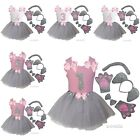 Girls 1st-6th Birthday Tank Elephant Ears Bowtie Tail Tutu Paws Costume Outfit
