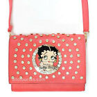 Betty Boop bling circle quilted stitch cross shoulder party bag purse Rhinestone $25.52 USD
