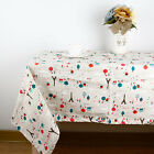 Catoon Tower Print Tablecloth Decorative Elegant Table Cloth Linen Cover