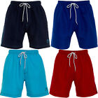 Mens Plain Casual Summer Swimming Shorts Mesh Lined Running Trunks Size