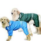 Waterproof Dog Pet Large Rain Coat Jacket Reflective Hoodie Raincoat Costume New