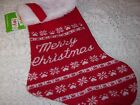 Merry Christmas Knit Fur M L Holiday Dog New cat pet stocking fair isle petco