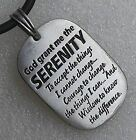 God Grant me the SERENITY Dog tag Religious Chritian Pewter Pendant Charm Amulet