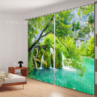3D River tree 7 Blockout Photo Curtain Printing Curtains Drapes Fabric Window US