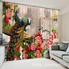 3D Peacock 247 Blockout Photo Curtain Printing Curtains Drapes Fabric Window US
