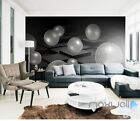 3D Black White Sphere 5D Wall Paper Mural Art Print Decals Business Decor